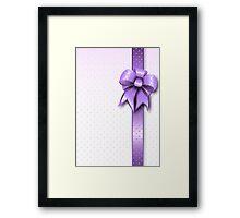 Lilac Present Bow Framed Print
