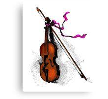 Violin & Ribbon Canvas Print
