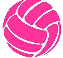 Pink Volleyball by cpotter