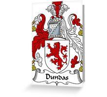 Dundas Coat of Arms / Dundas Family Crest Greeting Card