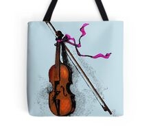 Violin & Ribbon Tote Bag