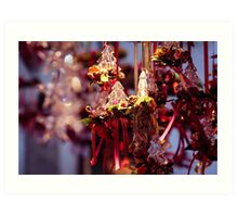 little christmas trees as gifts and decorations for christmas Art Print