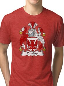 Dunlop Coat of Arms / Dunlop Family Crest Tri-blend T-Shirt