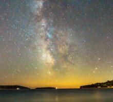 Milky way in the sky of Croatia Sticker