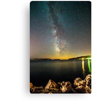Milky way in the sky of Croatia Canvas Print