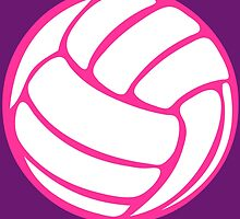 White Volleyball Pink by cpotter