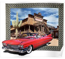 Cadillac in Town Poster