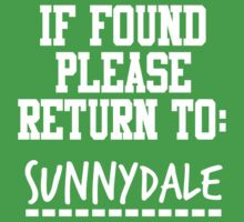 If Found, Please Return to Sunnydale One Piece - Short Sleeve