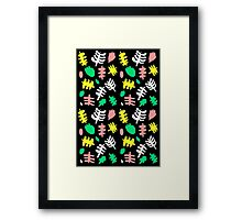 Paradise Tropic black Framed Print