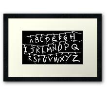 Stranger Things - ABC Framed Print
