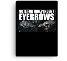 Doctor Who - Vote For Independent Eyebrows! Canvas Print