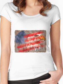 American graffiti Women's Fitted Scoop T-Shirt