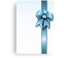 Turquoise Present Bow Canvas Print