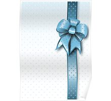 Turquoise Present Bow Poster