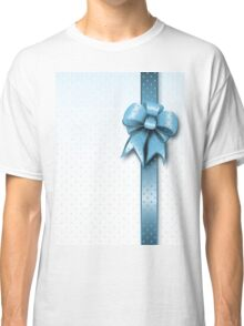 Turquoise Present Bow Classic T-Shirt