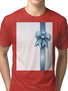 Turquoise Present Bow Tri-blend T-Shirt