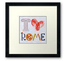 I love Rome Framed Print