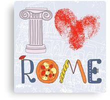I love Rome Canvas Print