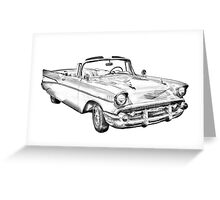 1957 Chevrolet Bel Air Convertible Illustration Greeting Card