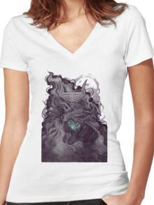 Claws of Dark Women's Fitted V-Neck T-Shirt