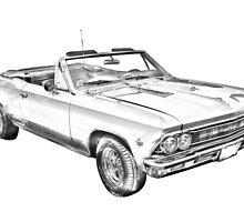 1966 Chevrolet Chevelle 283 Illustration by KWJphotoart