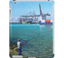 Southampton Western Docks Container Terminal as seen from Marchwood iPad Case/Skin