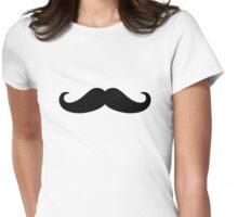 Moustache Beard Womens Fitted T-Shirt