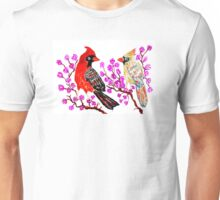 Red Cardinal Art Unisex T-Shirt