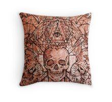 Skull in eyeland Throw Pillow