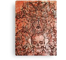 Skull in eyeland Canvas Print