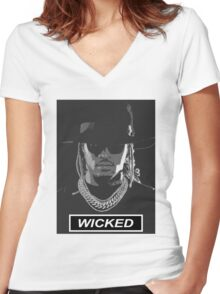 Wicked Future Women's Fitted V-Neck T-Shirt