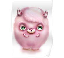 Monster in Pink #2 - Creepy Cute Poster