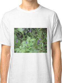 Purple sprinkled on green Classic T-Shirt