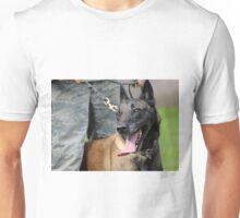Smiling Belgian Malinois Dog Unisex T-Shirt
