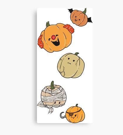 Silly Pumpkins Canvas Print