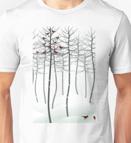 Bird in wood Unisex T-Shirt