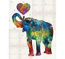 Colorful Elephant Art - Elovephant - By Sharon Cummings Photographic Print
