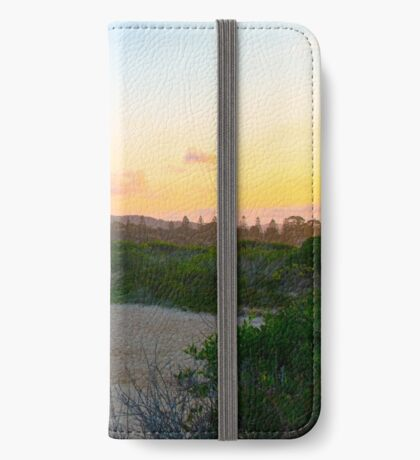 Family leaves the beach iPhone Wallet/Case/Skin