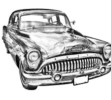 1953 Buick Special Antique Car Illustration by KWJphotoart