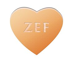 Zef Candy Heart - Orange by LozMac