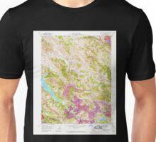 USGS TOPO Map California CA Briones Valley 288610 1959 24000 geo Unisex T-Shirt