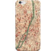 Vintage Map of Paris France (1910) iPhone Case/Skin