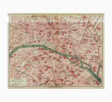 Vintage Map of Paris France (1910) T-Shirt