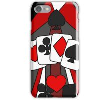 Artistic Fun Playing Cards Abstract Art iPhone Case/Skin