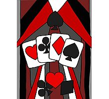 Artistic Fun Playing Cards Abstract Art Photographic Print