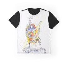 Dancing to the Music of Her Soul - Painted Graphic T-Shirt