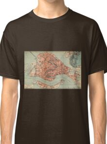 Vintage Map of Venice Italy (1920) Classic T-Shirt
