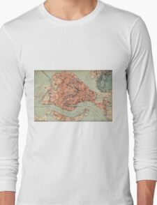 Vintage Map of Venice Italy (1920) Long Sleeve T-Shirt