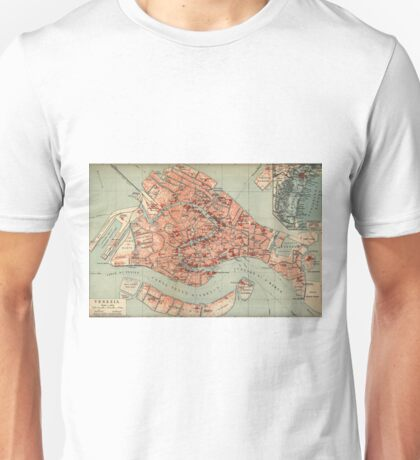 Vintage Map of Venice Italy (1920) Unisex T-Shirt