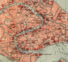 Vintage Map of Venice Italy (1920) Sticker
